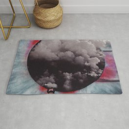 Clouded Judgment-Surreal Collage Rug