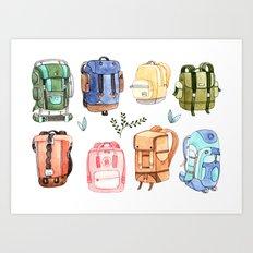 Backpacks Art Print