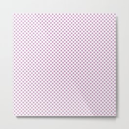 Orchid Polka Dots Metal Print