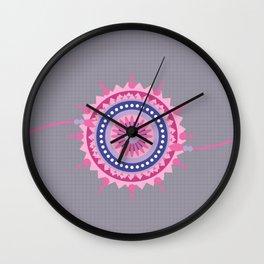Mandala Galaxy Grey cross Pattern Wall Clock