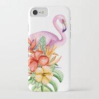 flamingo iPhone & iPod Cases featuring Flamingo by Julia Badeeva