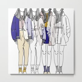 Sisters I Metal Print