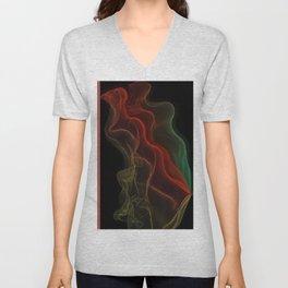 Almost Fluorescent Aurora String Theory #3  Unisex V-Neck