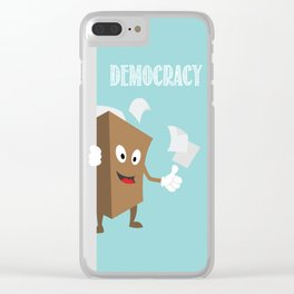 International Day of Democracy - human rights are taken care by democratic societies Clear iPhone Case