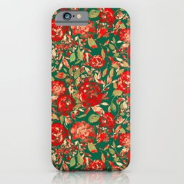 Farmhouse Floral Christmas iPhone Case