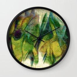 Abstract fall colors Wall Clock