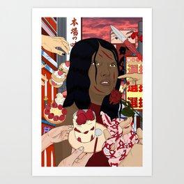 Red Jaapaan Art Print