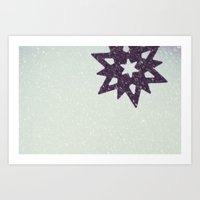 snowflake Art Prints featuring snowflake by Beverly LeFevre