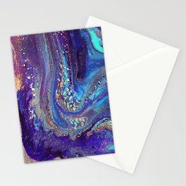 Iridescent Fantasy Abstract Stationery Cards
