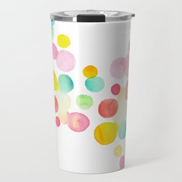 Technicolor Dots Travel Mug