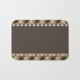 Brown plaid, plaid blanket, brown pattern, patchwork, folklore, rustic style, elegant pattern, plaid Bath Mat
