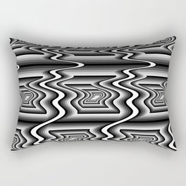 Grey Optical Pattern Rectangular Pillow