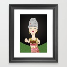 Let them eat cake Framed Art Print