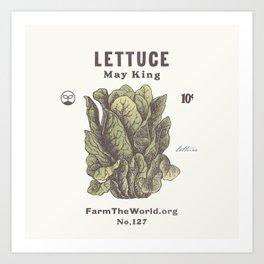 Farm the World Lettuce Seed Packet Art Print