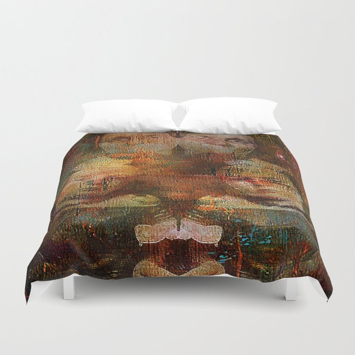 Twins intergenerational Duvet Cover