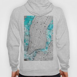 NEW YORK CITY OCEAN MAP Hoody