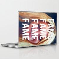 lindsay lohan Laptop & iPad Skins featuring FAME - LINDSAY LOHAN by Beauty Killer Art