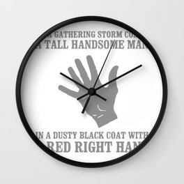 Red Right Hand Wall Clock