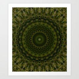 Mandala in olive green tones Kunstdrucke