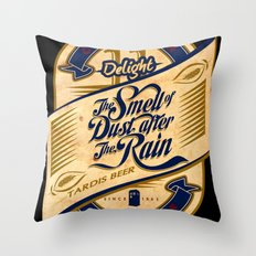 TARDIS Beer Throw Pillow