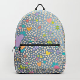 Hearts and Flowers Two Backpack