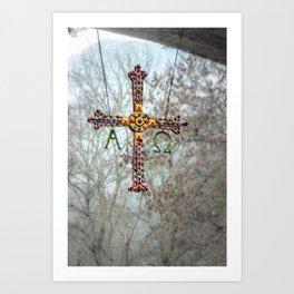Asturias Christ's cross Art Print