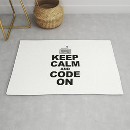 Keep calm and code on Rug