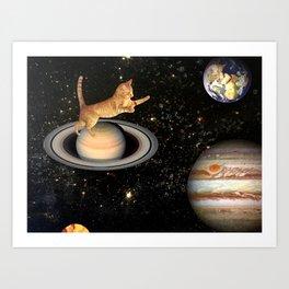 Cat.In.Space. Art Print