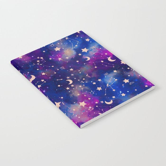 Zodiac - Watercolor Dark Notebook
