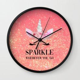Sparkle Wherever You Go Wall Clock
