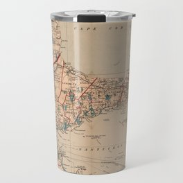 Vintage Map of Cape Cod MA (1905) Travel Mug