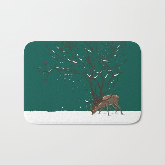 Winter Is All Over You Bath Mat
