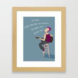 No Hunny Framed Art Print