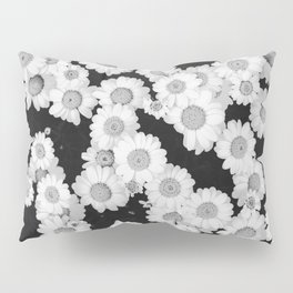 The Daisy Garden (Black and White) Pillow Sham