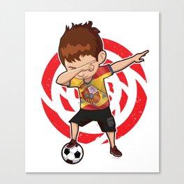 Football Dab Spain Spaniards Spanish Footballer Dabbing Rugby Goal Soccer Gift Canvas Print