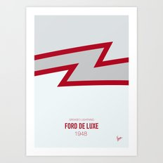 No022 My GREASE minimal movie car poster Art Print