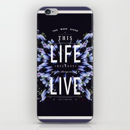 Inspirational butterfly iPhone Skin