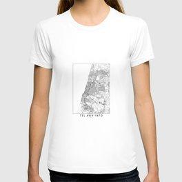 Tel Aviv-Yafo White Map T-shirt