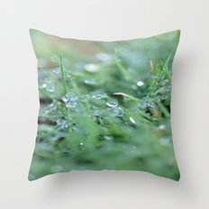 Morning Glitter Throw Pillow