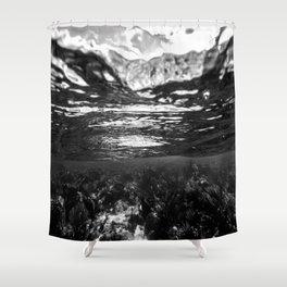 Monochrome Caribbean Layers Shower Curtain