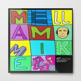 Tipografía manual de Me Llamo Mikel Metal Print