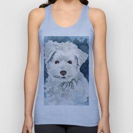 Bichon Frise Watercolor Unisex Tank Top
