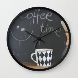 Coffee Time! Photo of coffee and mug Wall Clock