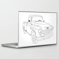 truck Laptop & iPad Skins featuring 1955 Truck by Yellow Chair Design