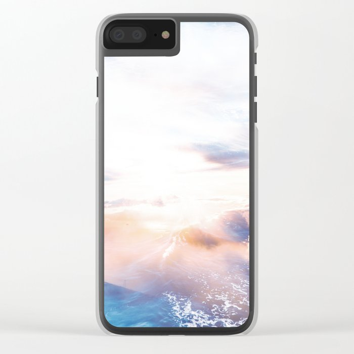 Cotton Candy Clear iPhone Case