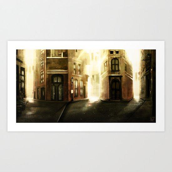 Crossroads Square Art Print