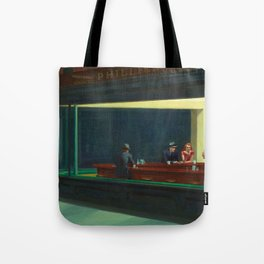 NIGHTHAWKS - EDWARD HOPPER Tote Bag