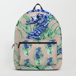 Blue Sea Horse Backpack