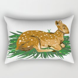 Fawn Illustration Rectangular Pillow