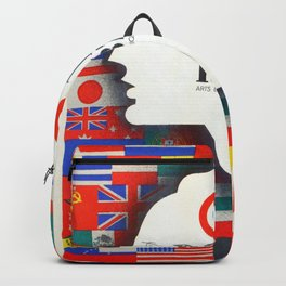 Vintage Paris 1937 Expo Poster Backpack